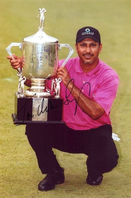 Jeev Milkha Singh, signed 12x8 inch photo.